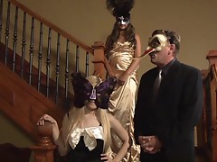 Hot parody masquerade sex with horny bitch Allie Haze