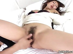 Naughty Kayo Satoyama getting off on cock