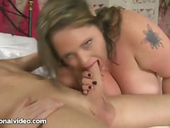 Dirty British MILF BBW Honey Fucks hard Stud in Castle