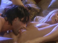 Sue Diamond enjoys herself while she's being banged after sucking dick