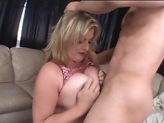 Sexy slut Kala Prettyman takes a massive cum wad all over her big boobs