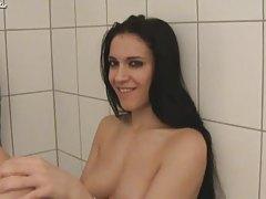 Gorgeous Girl banged hard on washer