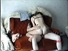 A pretty newcomer opens her pussy wide for insertion for a long rod