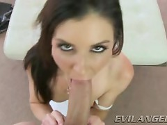 India Summers takes this hard cock down her throat