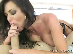 Veronica Avluv loves slurping on this stiff skin flute