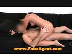 FakeAgent Hot brunette creampie