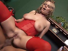 Alexis May loves to take an enormous dick up her ass while wearing stockings