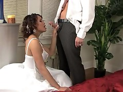 Hot slut Renae Cruz gets a twat plundering on her wedding day