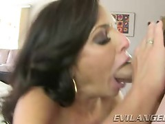 Hot Veronica Avluv takes this hard dick down her throat
