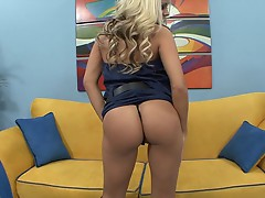 Sizzling Brandy Blair exposes her succulent round ass