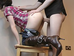 Raging amateur loves getting her moist pussy pulverized