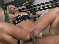 Wild Angelina Love bounces her pussy on this hard prick