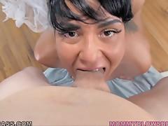 Milf Slut Mahina Zaltana Deepthroats a Dick!