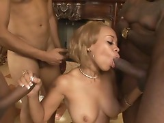 Melrose Foxxx works her mouth on a dick till she gets some nut on her face