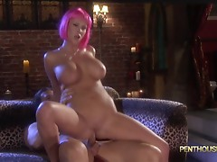 Pink haired Carly Parker loves cock like candy