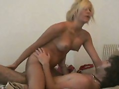 This dirty blonde is no stranger to dicks in every hole in her body