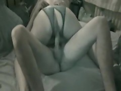 Trained whore works her dirty pussy magic on a hard stiff dick