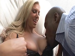 Great smile and big boobs on cougar Brooke Biggs as she takes in Lex Steele