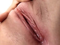 Dripping wet babe toys her pussy just for you