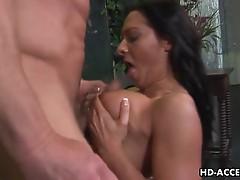 Sandra Romain tittie fuck and deepthroat