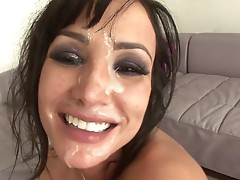 See Lisa Ann's full creamy facial finish