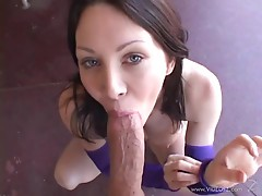 Randy Rayveness loves slurping on this stiff skin flute