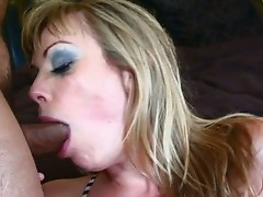 Adrianna Nicole gets it the ass after playing around with a guys dick