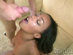Tila Flame gets her face drenched with warm cum