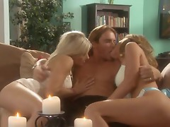 Kayla Paige and Kylee Reese provide the hot slutiness in a dirty thressome