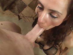 Ariella Ferrera swallows the dick hoping to get a big wet prize