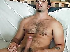 Latino dick getting stroked hard fast