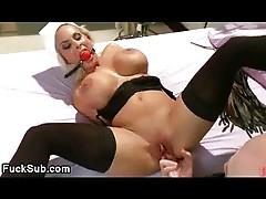 Busty blond nurse fucked bdsm