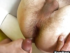 Hot hunk owns Latin gay ass