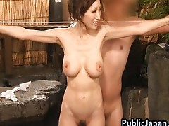 Beautiful busty Julia sucks cock