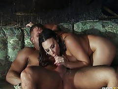 Chanel Preston fucked outside in the rain