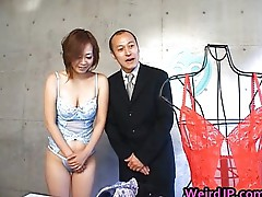 Asian babe gets her juicy tits squeezed