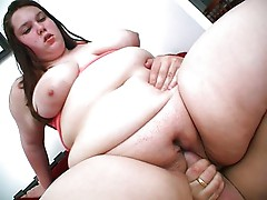 Huge busty babes ride well