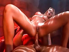 Horny babe Hanna fucked by the devil