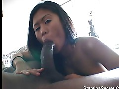 Hot Asian screwed by black guy