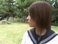Young Japanese Girl In School Uniform ( amateur japan teen daughter 18 )