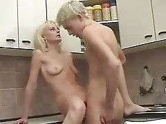Blonde Russian Mature Mother and Son