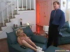 Young lady punished by teacher