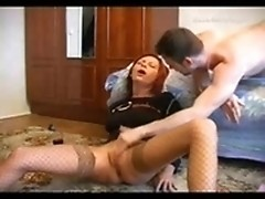 Drunk amateur slut getting screwed by two horny hunks