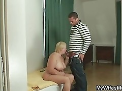 Her fat mom fucking with her hubby