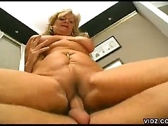 Mature plump Karola gets nasty with hunk