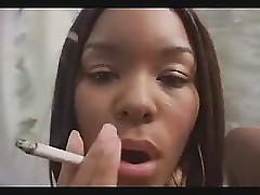 Hot Ebony Handjob And Smoking Fetish 1 FG09