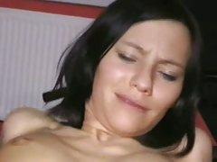 Look at her wet pussy lips and huge clitoris!