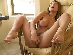 Busty Italian Andrea Fingering and Dildo Play