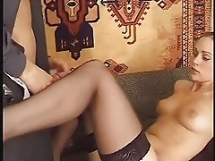 Cum on Hold Up Stockings (sample)
