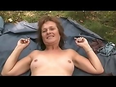 Granny Wife Meets Lover In The Forest